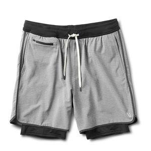 NWT Vuori Stockton Shorts Grey Linen Texture